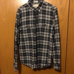AMERICAN EAGLE OUTFITTERS | Navy Plaid Button Down